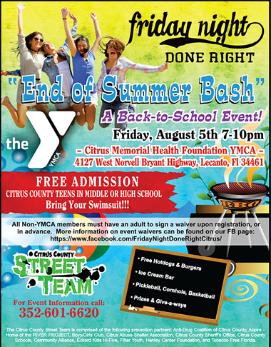 End Of Summer Bash, Back to School Event